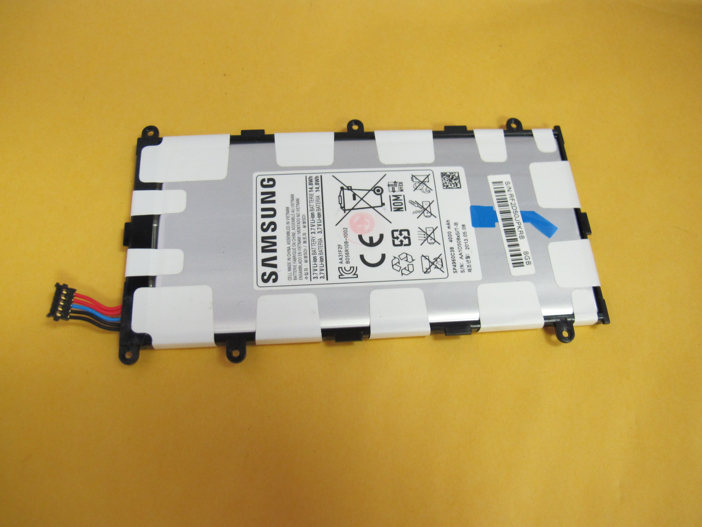 oem battery for samsung galaxy tab 2 7 0 p3100 p3110 p3113 4000mah sp4960c3b ebay. Black Bedroom Furniture Sets. Home Design Ideas